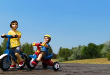 action-figures-of-kids-riding-bikes-on-a-park